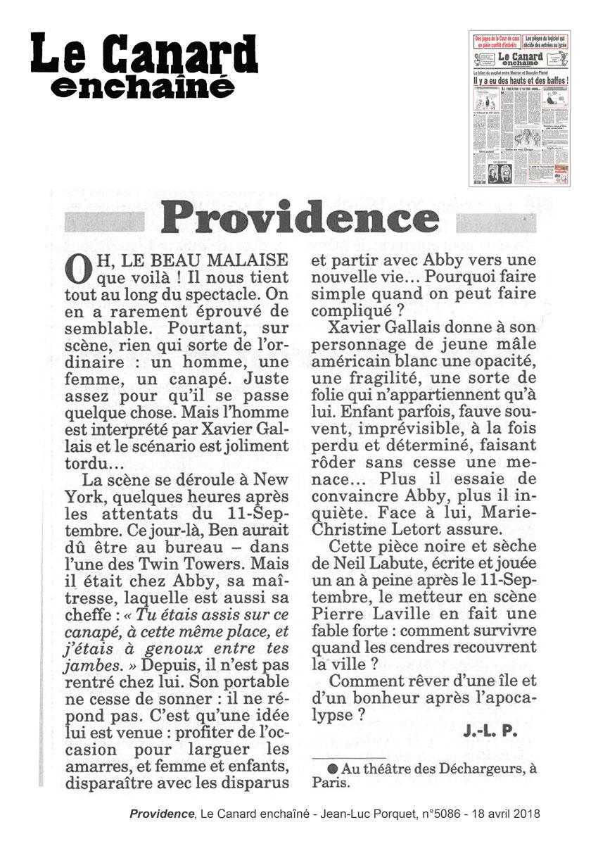 Providence - Canard enchîné